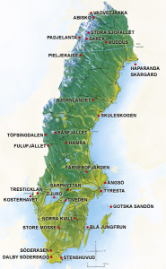 National Parks in Sweden (map Naturvardsverket)