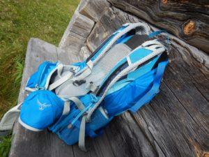 Osprey Sirrus 24 daypack, backside. Photo Treeline Tales.