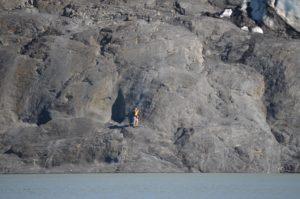 Portage Glacier, The rock sidewalks. Photo credit Doug Penton.
