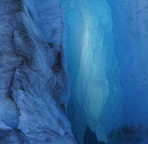 Portage Glacier, Into The Blue. Photo Grant Gibbs.